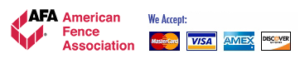 American Fence Association and Credit Card logos